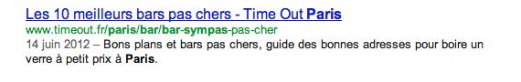 exemple de résultat google